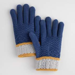 World Market Navy and Gray Touch Screen Gloves
