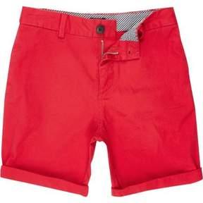 River Island Boys red chino shorts