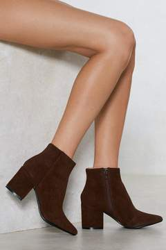 Nasty Gal Vegan Suede Our Wardrobe Ankle Bootie
