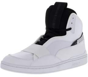 Puma Men's Mcq Brace Mid White / Black Mid-Top Leather Fashion Sneaker - 11M