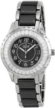 Burgi Ceramic Bracelet Baguette Quartz Ladies Watch