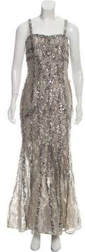Elie Saab Sequined Lace Gown