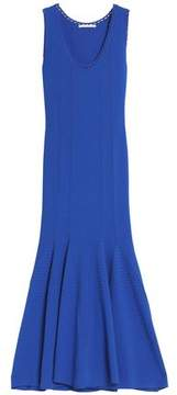 Antonio Berardi Ribbed Knit-Paneled Fluted Stretch-Knit Gown