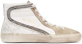 Golden Goose Deluxe Brand White Slide High-Top Sneakers