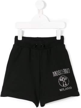 Moschino Kids crystal embellished shorts