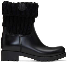 Moncler Black PVC Ginette Boots