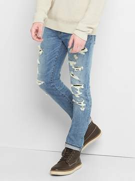 Gap Skinny fit destructed jeans with stretch