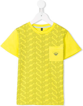 Emporio Armani Kids monogram print T-shirt