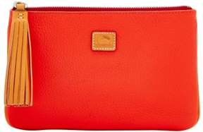 Dooney & Bourke Patterson Leather Carrington Pouch - SALMON - STYLE