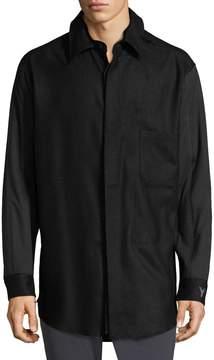 Y-3 Men's Wool Blend Sport Shirt