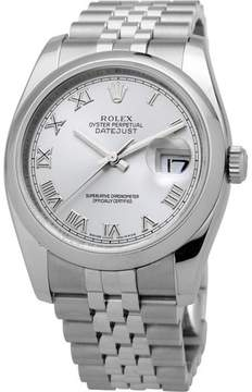 Rolex Datejust 36 Rhodium Dial Stainless Steel Jubilee Bracelet Automatic Men's Watch