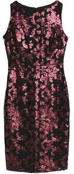 Badgley Mischka Sequin-Embellished Lace Dress