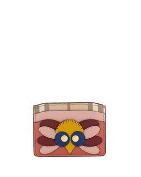 Burberry Izzy Owl Leather Card Case - RED - STYLE
