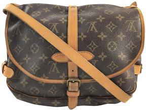 Louis Vuitton Saumur leather crossbody bag - BROWN - STYLE
