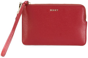 DKNY zipped logo purse