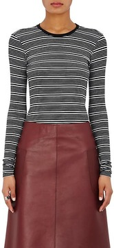 ATM Anthony Thomas Melillo Women's Striped Long-Sleeve Top