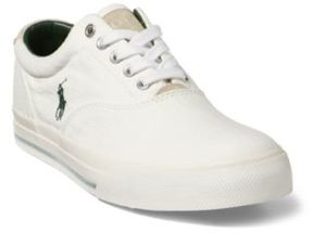 Ralph Lauren Vaughn Washed Twill Sneaker White 15