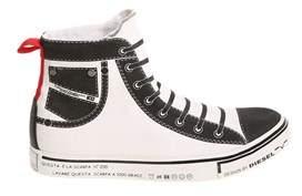 Diesel Men's White Fabric Hi Top Sneakers.