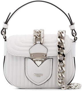 Moschino White Quilted Leather Shoulder Bag
