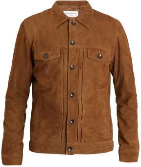 Officine Generale Liam point-collar suede jacket
