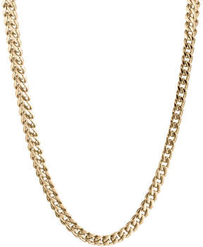 JCPenney FINE JEWELRY Mens Stainless Steel & Gold-Tone IP 24 4mm Foxtail Necklace
