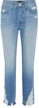 3x1 W3 Higher Ground Cropped Distressed Jeans - Mid denim