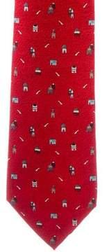 Bvlgari Silk Castle Print Tie