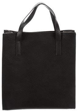 Barneys New York Barney's New York Grained Leather Top Handle Bag