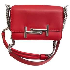 Tod's Red Leather Handbag