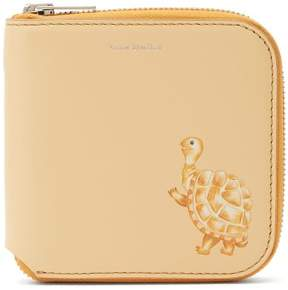 Acne Studios Tortoise Print Leather Wallet - Womens - Light Yellow