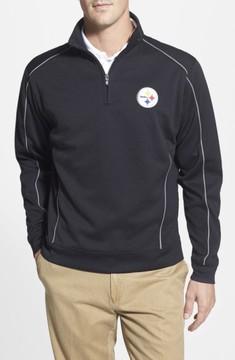 Cutter & Buck Men's 'Pittsburgh Steelers - Edge' Drytec Moisture Wicking Half Zip Pullover