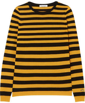 Bella Freud Skinny Minnie Striped Wool And Cashmere-blend Sweater - Yellow