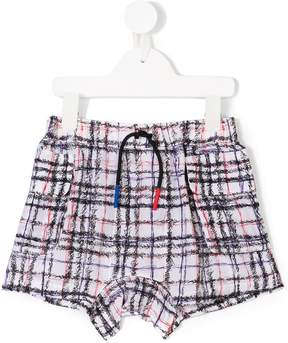 Burberry scribble checked shorts