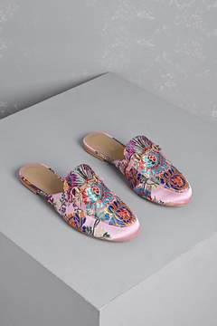 Forever 21 Wanted Floral Slip-On Loafers
