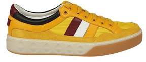 Gucci Men's Yellow Leather Sneakers.