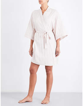 Bodas Shadow Stripe cotton kimono robe