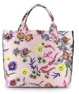 Pinko Women's Pink Fabric Handbag.