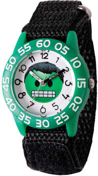 Marvel Emoji Boys Black Strap Watch-Wma000074