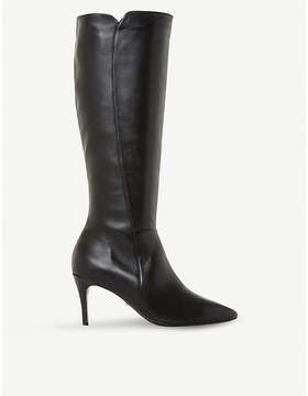 Dune Clean Point leather knee-high boots