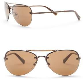 John Varvatos Collection 59mm Aviator Sunglasses