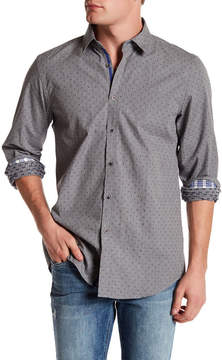 Report Collection Dobby Print Slim Fit Shirt