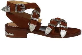 Toga Pulla Suede Strap Sandals