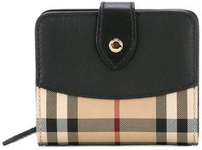 Burberry House check compact purse - BLACK - STYLE