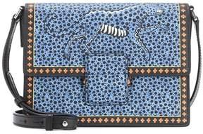 Etro Printed leather shoulder bag