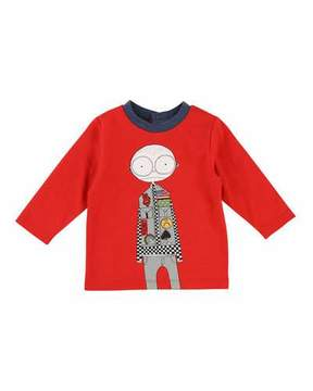 Little Marc Jacobs Mister Marc Essentials Long-Sleeve Graphic Tee, Size 12-18 Months
