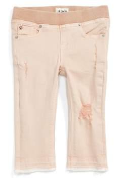 Hudson Distressed Released Hem Skinny Jeans (Baby Girls)