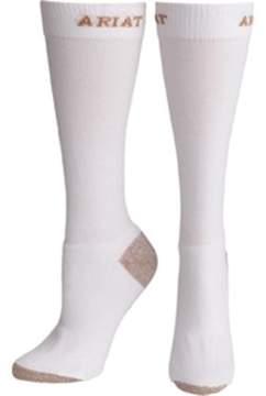 Ariat A10002610 Womens Heavy Duty Sport Socks, White