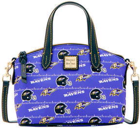 Dooney & Bourke Baltimore Ravens Nylon Mini Crossbody Satchel - BLACK - STYLE