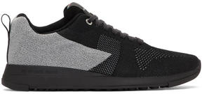 Paul Smith Black Reflective Rappid Sneakers