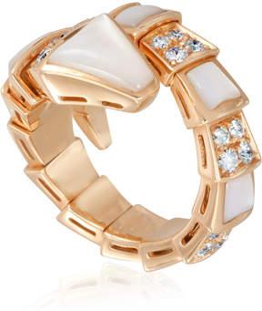 Bvlgari Serpenti 18K Pink Gold Diamond Ring - Small